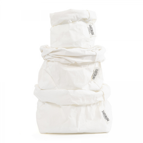 ALL SIZES - UASHMAMA washable paper bag - white