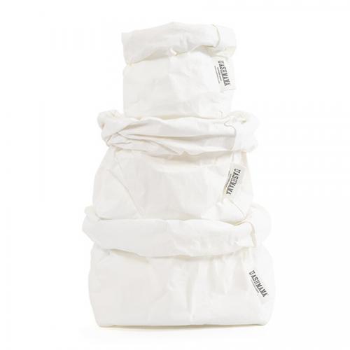 ALL SIZES - UASHMAMA washable paper bag - white