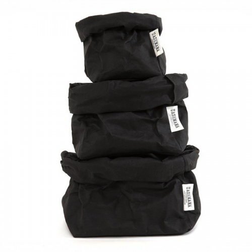 ALL SIZES - UASHMAMA washable paperbag - black