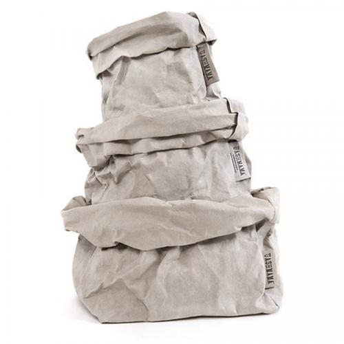 ALLE GRÖßEN - UASHMAMA waschbare Papiertasche - grau