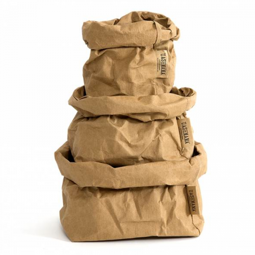 ALL SIZES - UASHMAMA washable paper bag - brown