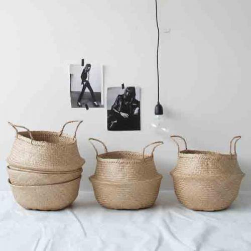 Rice Korb - geflochtener Korb aus Seegras mit Griffen - NATUR
