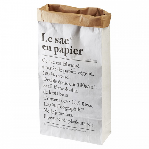 Paper bag large LE SAC EN PAPIER be-pôles