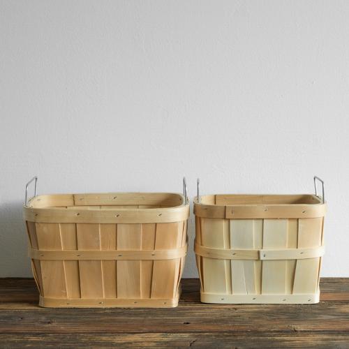 Korb Set aus Holzgeflecht