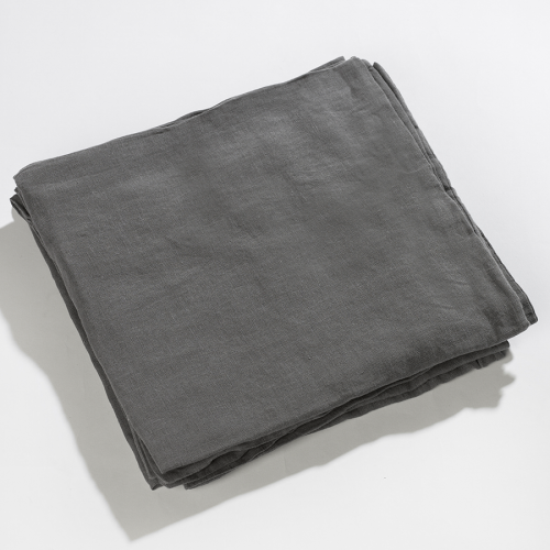 Pillowcase dark grey made of 100% linen 55 x 55cm