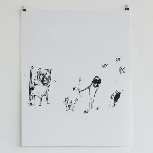 Kunstdruck - THE FLOWER
