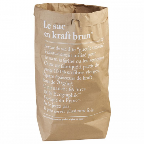 Paper bag brown LE SAC EN CRAFT BRUN be-pôles