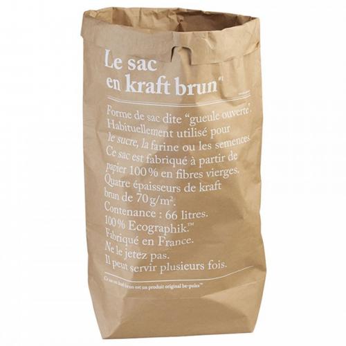 Papiersack braun LE SAC EN CRAFT BRUN be-pôles