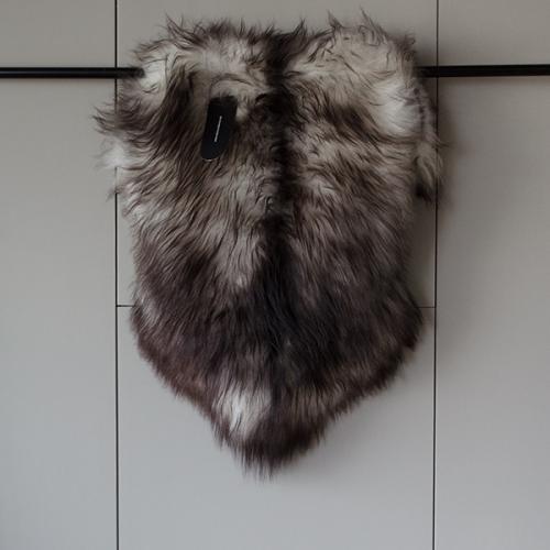 Isländisches Langhaar Schaffell - dunkelgrau