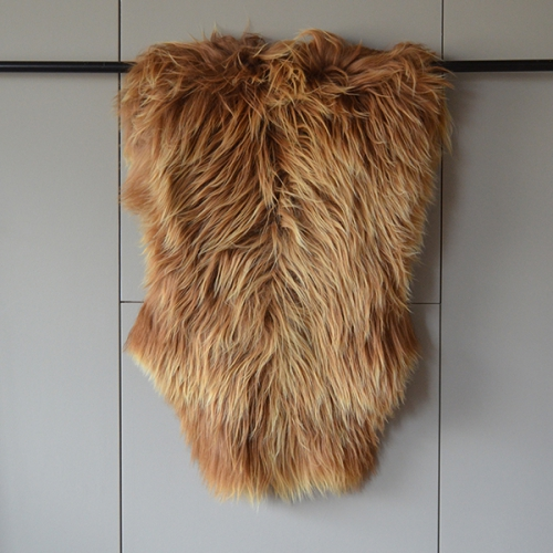 Alpine longwool sheepskin - caramel brown
