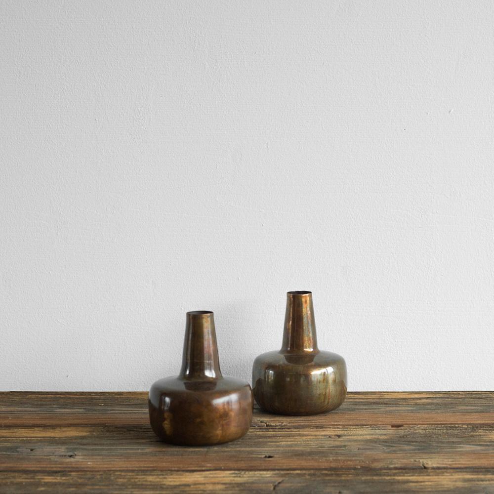 vase aus eisen mit antikem kupfer finish von house doctor heimelig shop. Black Bedroom Furniture Sets. Home Design Ideas