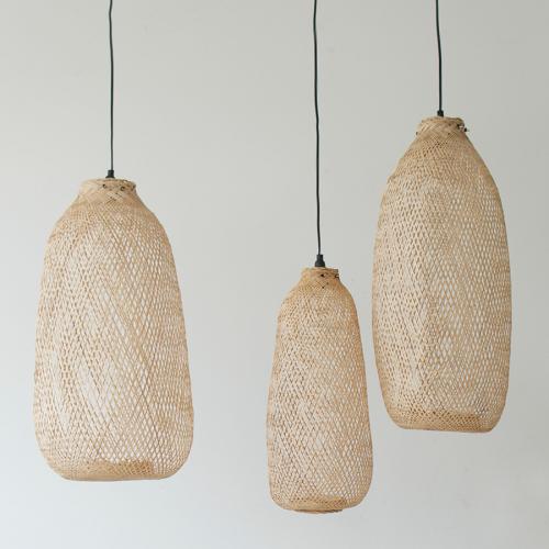 Bamboo lamp handwoven