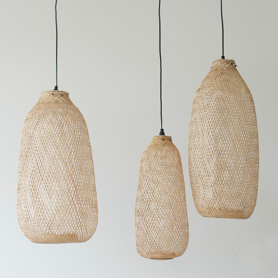 Bambuslampe Oval Heimelig Shop
