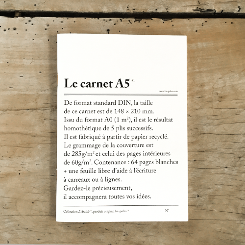 Notebook LE CARNET A5 be-pôles
