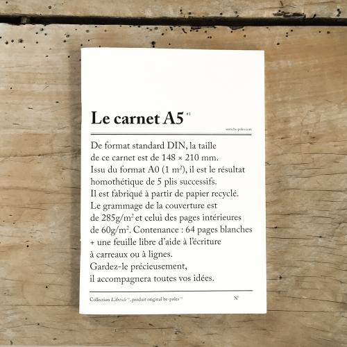 Notizbuch LE CARNET A5 be-pôles
