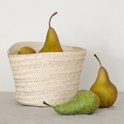 Natural basket seegrass handwoven