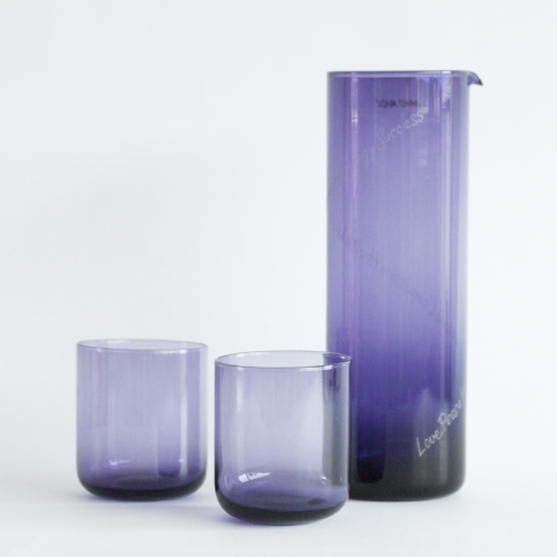 CRIANI - powerglass set jug and glasses violet