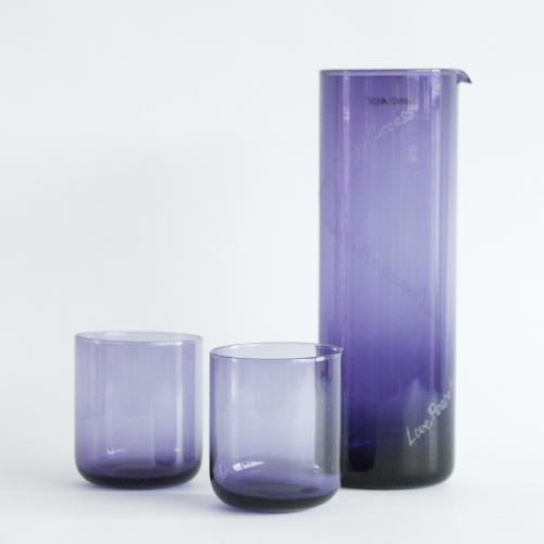 CRIANI - Powerglas Karaffe und Gläser lila