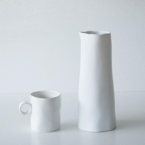 Weiße Keramik Kanne von Bloomingville