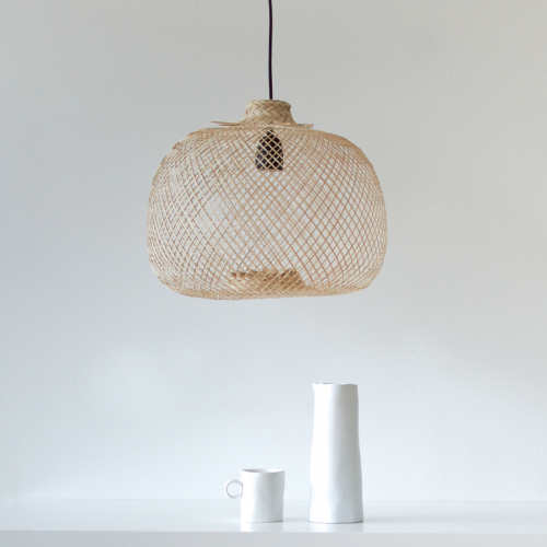 Bamboo lamp - round